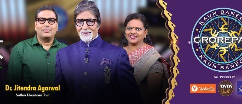 Sarthak leaders appear on KBC to raise awareness on people with disabilities
