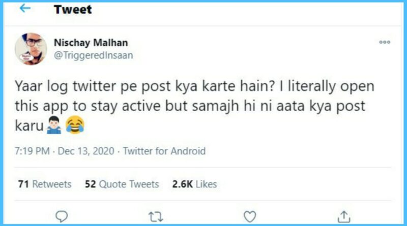Triggered Insaan asks netizens what to post on Twitter, gets amazing responses