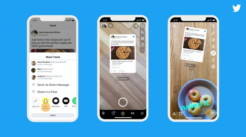 Twitter to let IOS users share tweets on Snapchat in the new feature